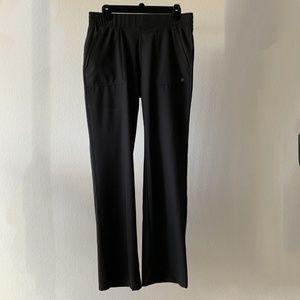 APANA Black Flowing Wide Straight Leg Yoga Pants M